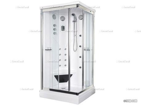 """Cabine de douche intégrale rectangulaire """"Pacific Pleassure"""" 105 x 85 x 225 cm"""