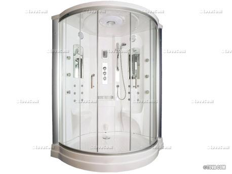 """Cabine de douche intégrale """"Ocean Premium"""" 132.5 x 132.5 x 220 cm"""