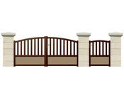 """Portail battant """"Bridge"""" Aluminium - 3 m"""