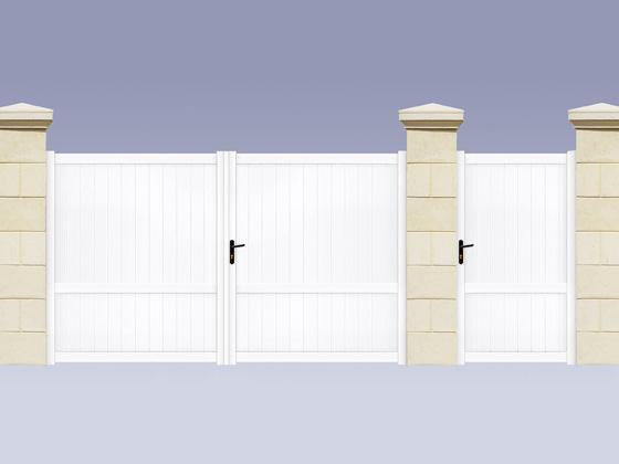 Portail en aluminium assembl vandoise 3m portillon for Portail 3m