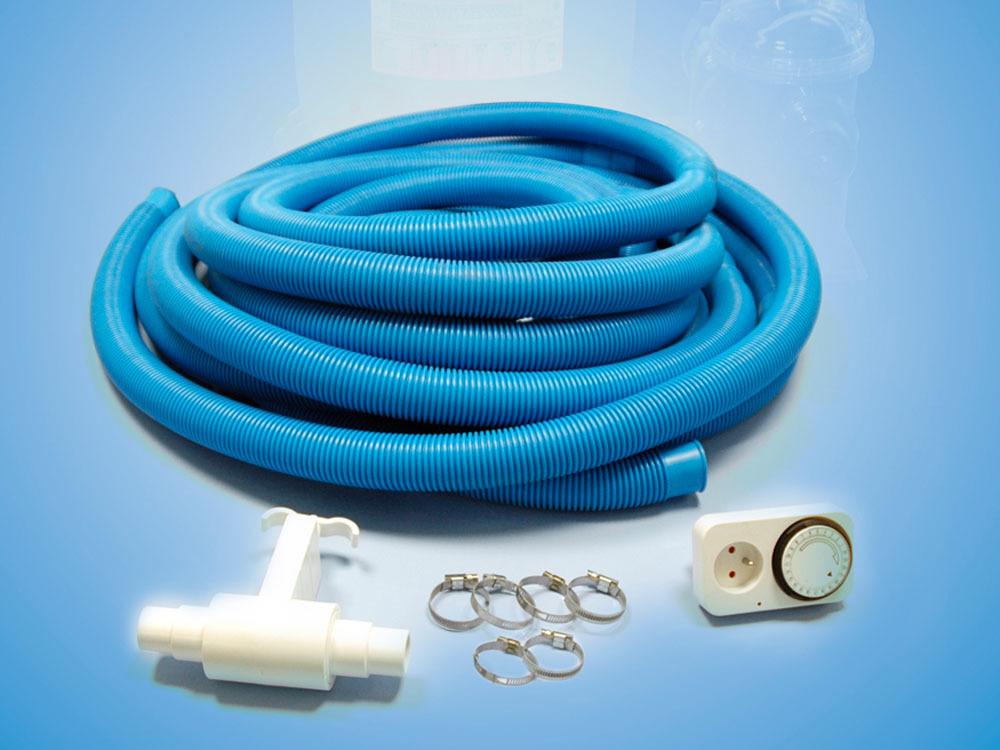 filtration piscine kit d 39 installation de filtration 12 m tuyau timer vanne 6serflex 43410. Black Bedroom Furniture Sets. Home Design Ideas