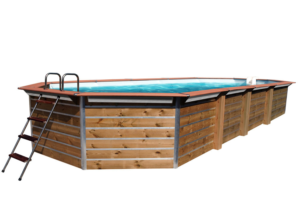 Piscine bois evolux classic gold x x for Piscine evolux