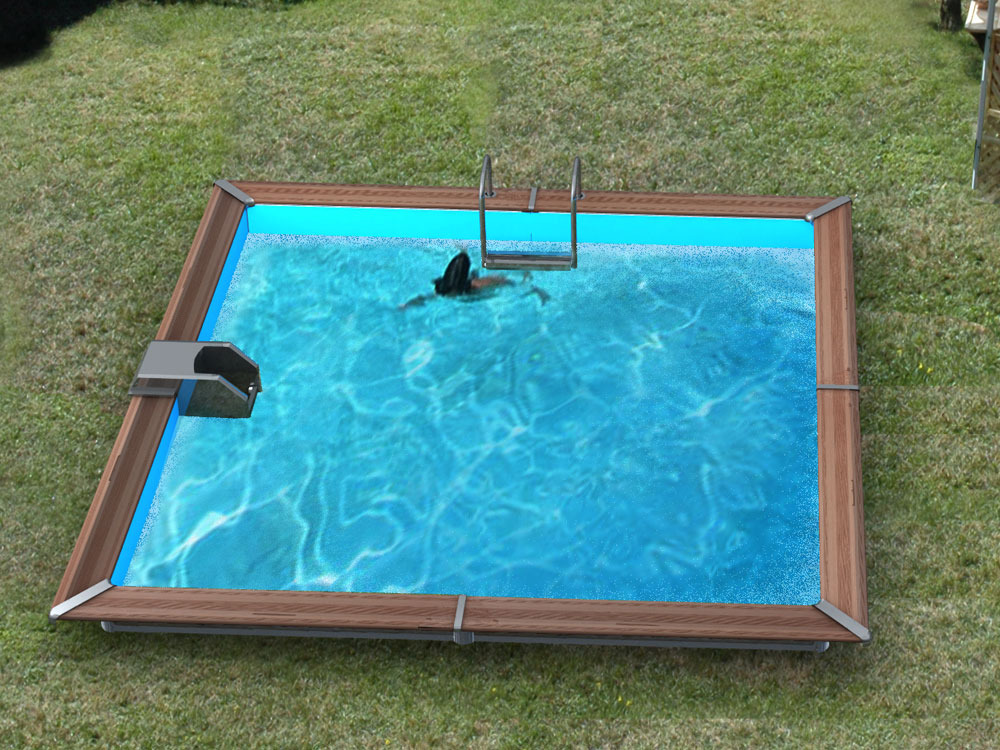 Piscine bois 10 m2 for Piscine semi enterree 10m2
