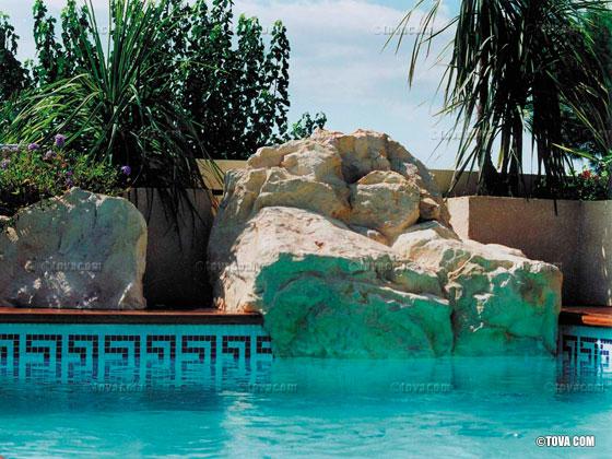 rocher d coratif cascade jouvence couleur blanc cr me 22202 22203