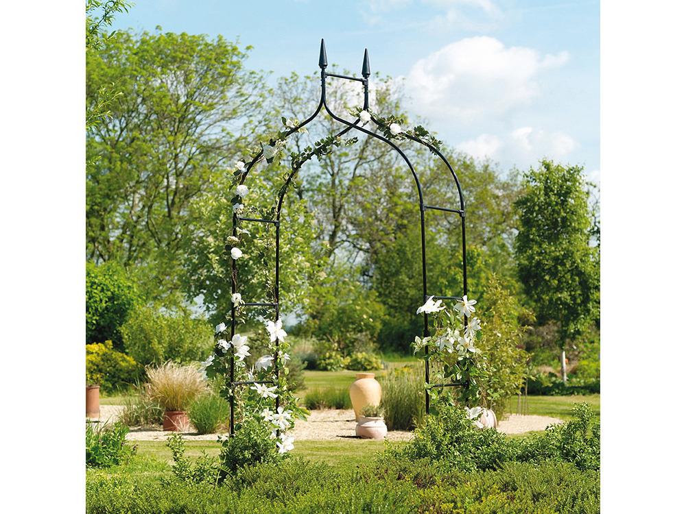 Arche gothic noire x 1 4 m 63820 - Arche metallique jardin ...