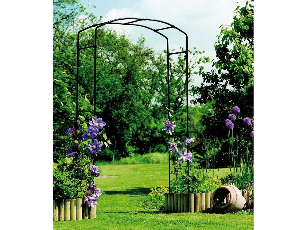 Arche gallic noire 2 x 1 2 m 63824 - Arche metallique jardin ...