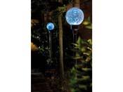 """Eclairage solaire """"Border ball"""" Bleu lot de 2 - Hauteur 105 cm."""