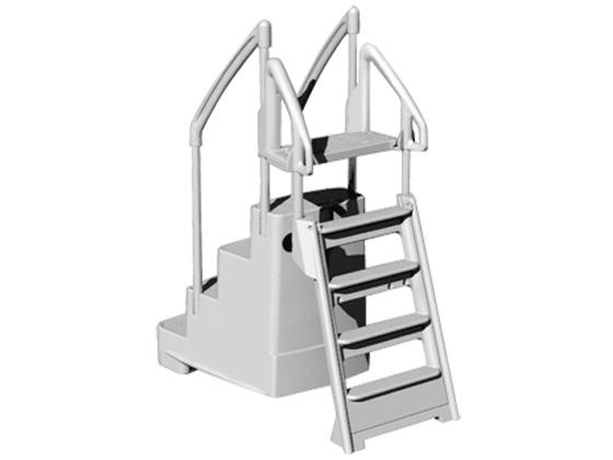 escalier et chelle duo fiesta pour profondeur piscine. Black Bedroom Furniture Sets. Home Design Ideas