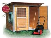 "Abri jardin bois  ""M Rustica Garden"" - 4.14 m² - 2.03 x 2.04 x 1.98 m - 30 mm"