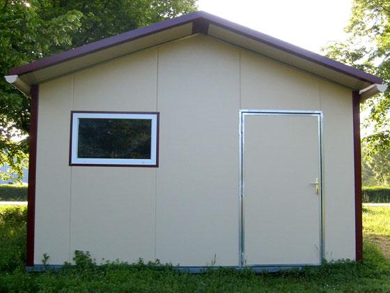 Abri jardin m tal avoriaz 16 m 4 x 4 x m 28474 for Garage en panneau sandwich