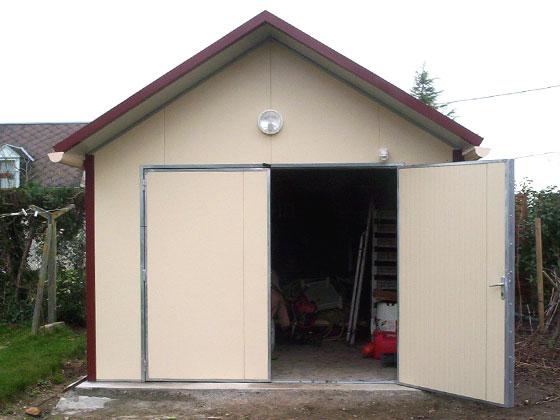 Garage m tal combloux 20 m 4 x 5 x m mm for Garage en panneau sandwich