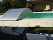 Abri télescopique pour piscine - 8 x 4 m