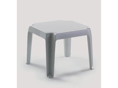"Table basse ""Canasta"" - 48 x 48 cm - Blanc"