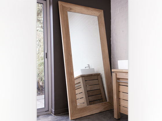 Miroir en teck massif 165 x 90 x 3 cm 25359 for Miroir seducta 90 cm
