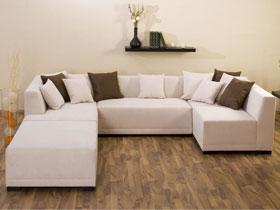 Canapé d'angle tissu en U
