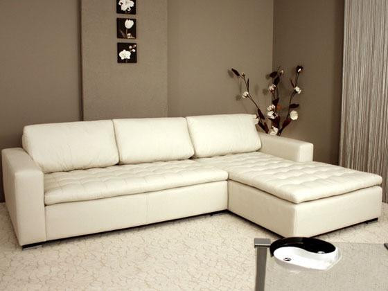 canap d 39 angle cuir naturel virgina pez 6 8 places. Black Bedroom Furniture Sets. Home Design Ideas