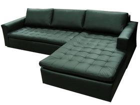 Canapé d'angle cuir naturel virgina
