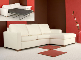 Canapé d'angle  convertible tissu