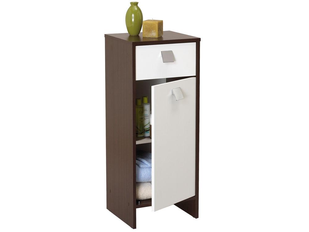 Meuble de salle de bain meuble futuna 2 1 porte 1 for Porte meuble salle de bain