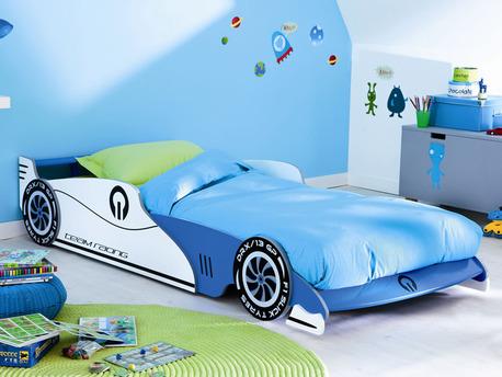 """Lit """"Grand prix"""" bleu - 90 x 190/200 cm"""