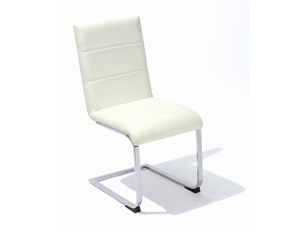 Lot de 4 chaises righty blanche 52046 for Chaise blanche sejour