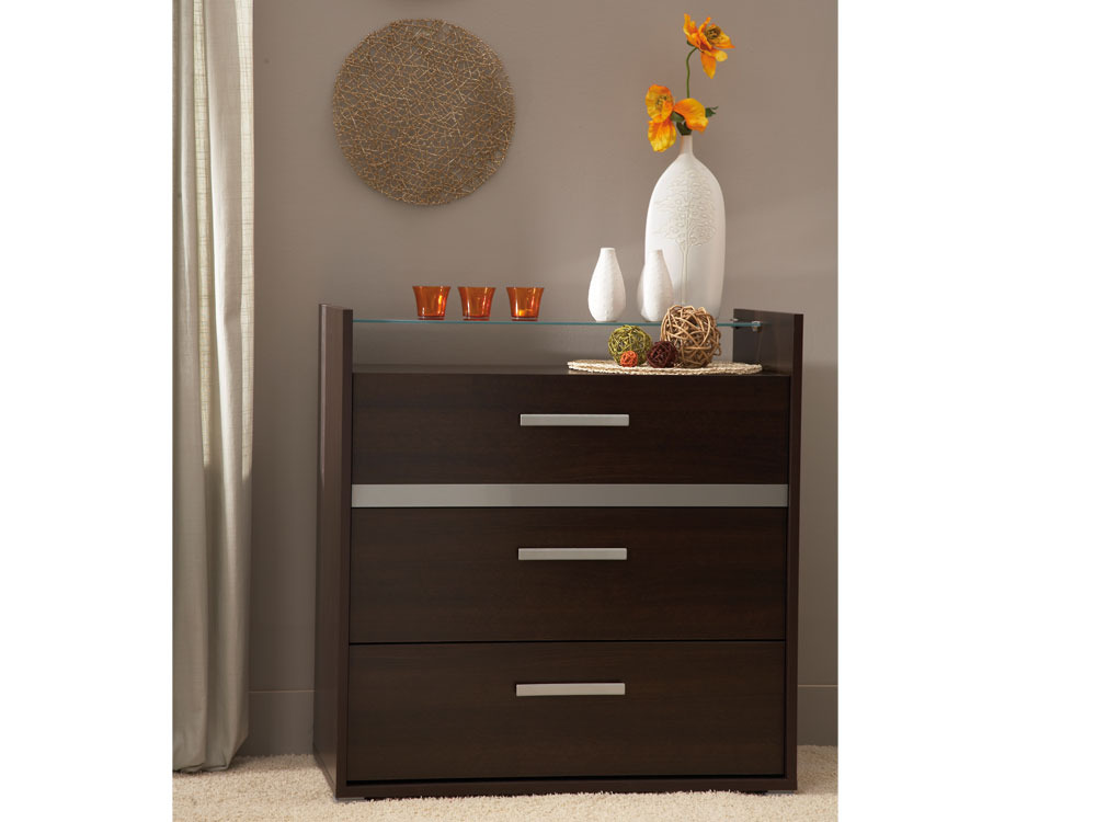 commode manon aspect pin memphis 3 tiroirs 44163. Black Bedroom Furniture Sets. Home Design Ideas