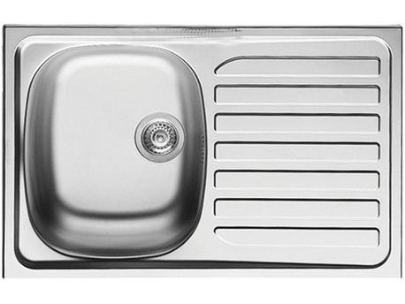 Meubles de cuisine - Evier en acier inoxydable - 75 x 48 cm