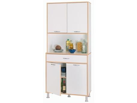 """Buffet """"Deco"""" - MDF blanc velours - 4 portes et 1 tiroir"""