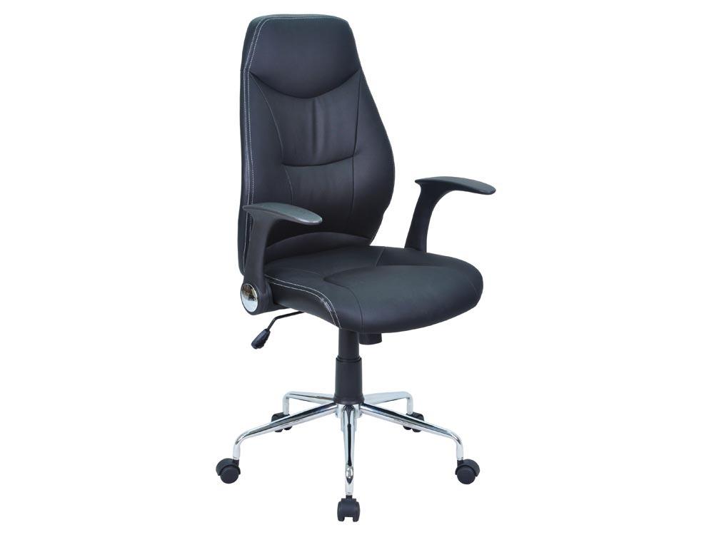 Chaise de bureau dactylo brontes noir 57622 - Chaise de bureau noir ...