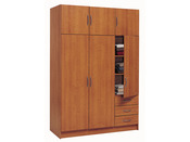 "Armoire ""Magnum"" - 3 + 3 portes ouvrantes - 3 tiroirs - Cerisier clair"