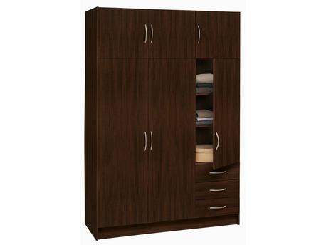 "Armoire ""Magnum"" - 3 + 3 portes ouvrantes - 3 tiroirs - Chocolat wenge"