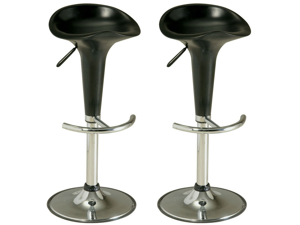lot de 2 tabourets de bar groom 39785. Black Bedroom Furniture Sets. Home Design Ideas