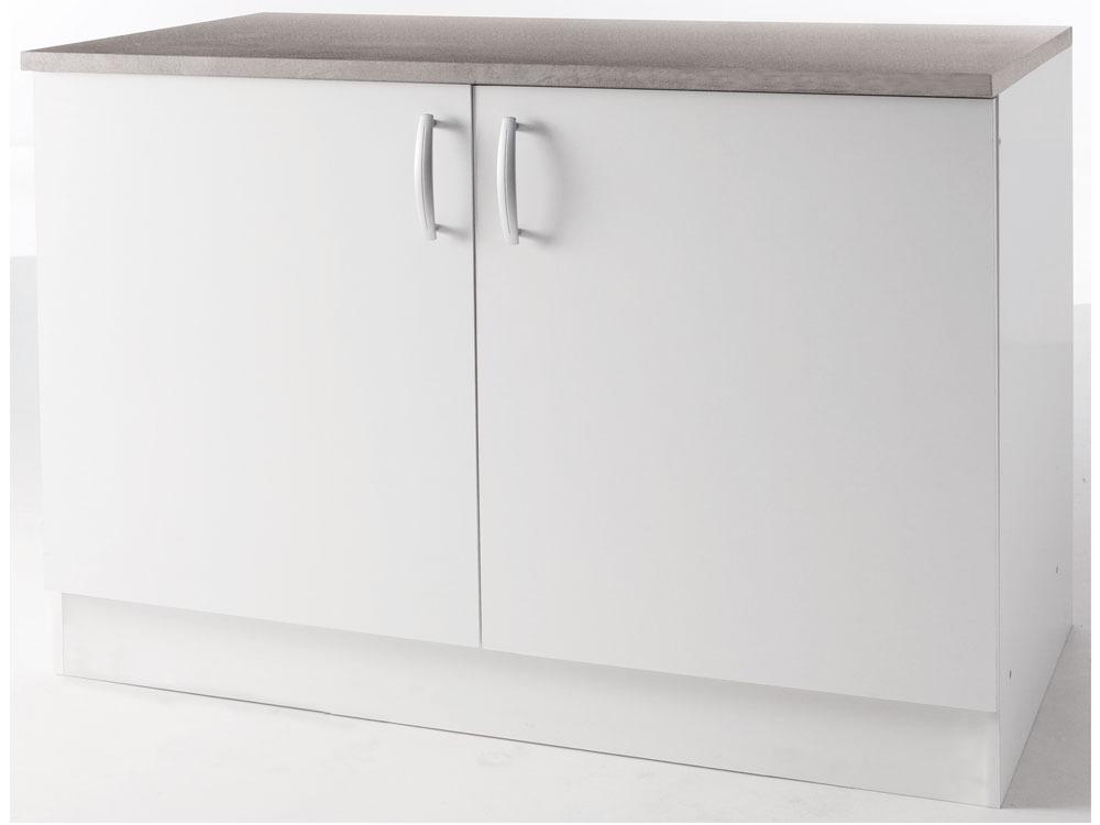 meubles de cuisine meuble bas paprika blanc 120 cm 2 portes 39866 39871. Black Bedroom Furniture Sets. Home Design Ideas