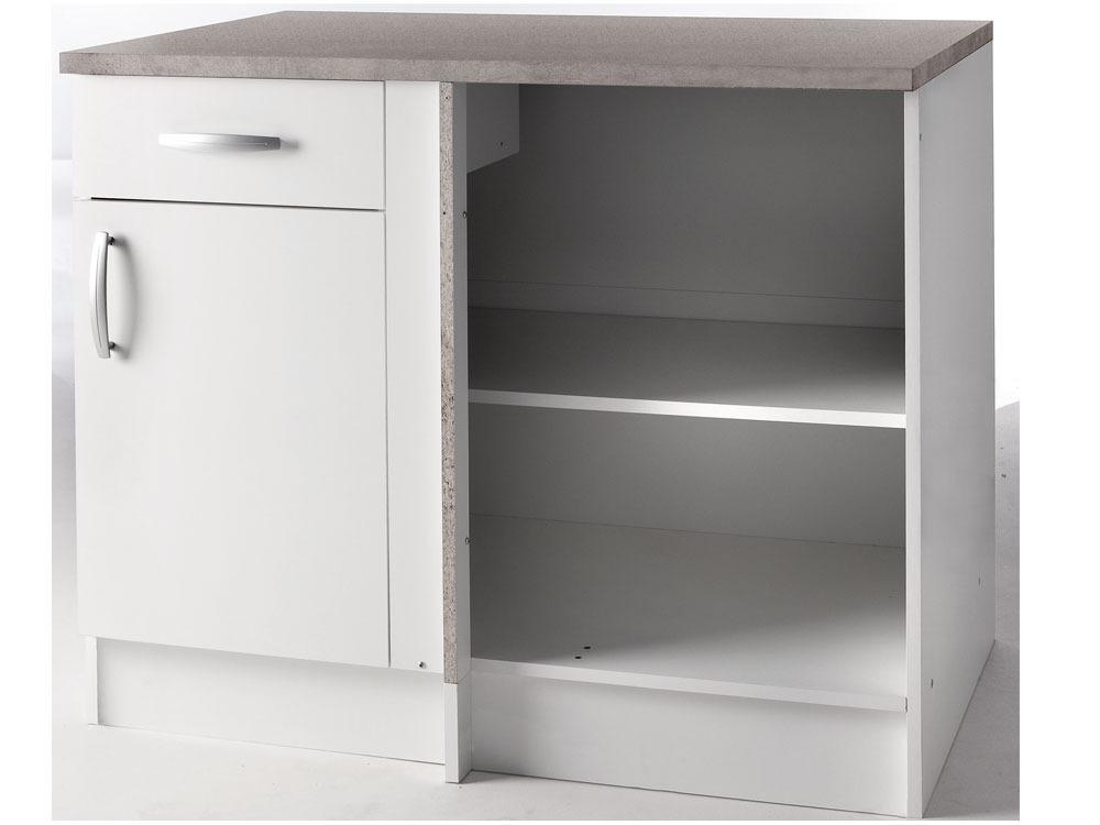 meubles de cuisine meuble angle bas paprika blanc 100 cm 39872. Black Bedroom Furniture Sets. Home Design Ideas