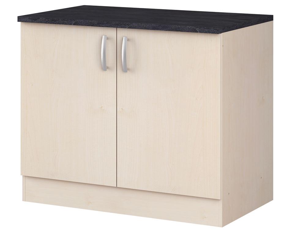 meubles de cuisine meuble bas paprika rable 100 cm 2 portes 39866 39868. Black Bedroom Furniture Sets. Home Design Ideas