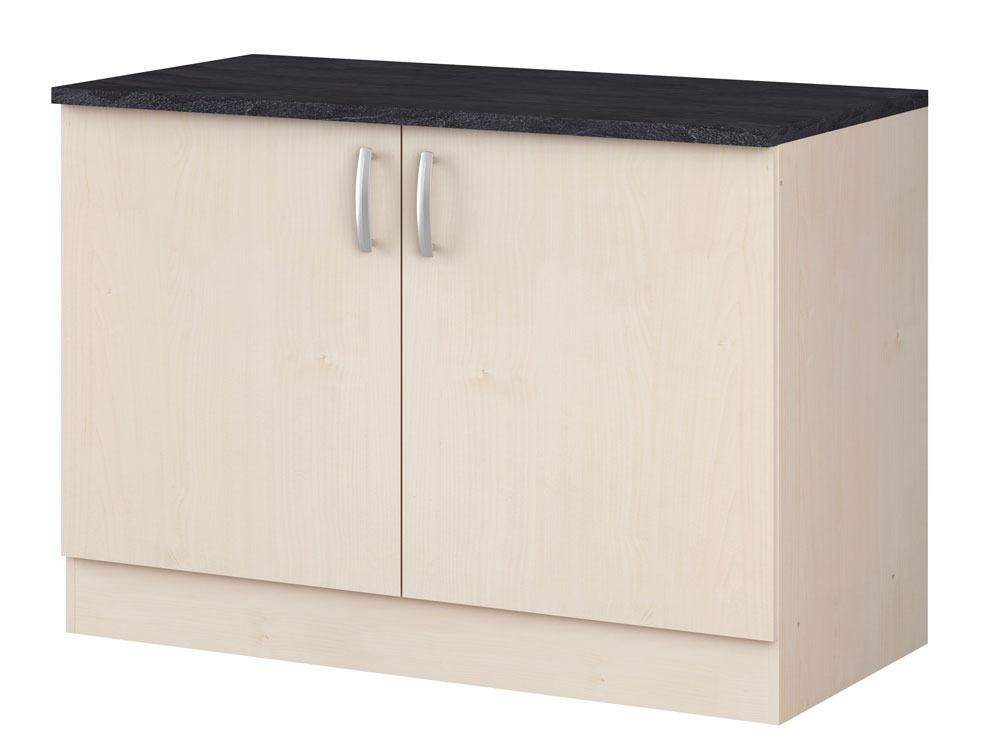 Meubles de cuisine meuble bas paprika rable 120 cm for Meuble de cuisine 120 cm