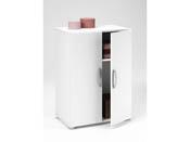 "Armoire ""Cobi"" - 58,20 x 34,60 x 81 cm - Blanc"