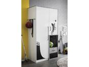 "Armoire ""Street"" - 2 portes - 85,1 x 51,7 x 180,7 cm - Coloris blanc"