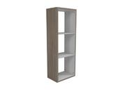 """Bibliothèque """"Hollow"""" - 3 niches - 45 x 29.2 x 125.1 cm - Chêne/blanc"""