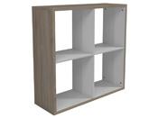 """Bibliothèque """"Hollow"""" - 4 niches - 86.2 x 29.2 x 84.6 cm - Chêne/blanc"""