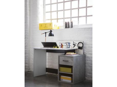 """Bureau """"Street"""" - 1 tiroir - 120,9 x 52 x 95 cm - Coloris béton"""