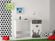 """Bureau """"Foot"""" - 1 porte - 113 x 49.9 x 76,2 cm - Coloris blanc perle"""