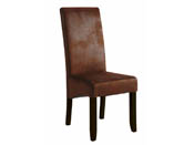 "Lot de 2 chaises ""Sagua"" -  47 x 62 x 108 cm - Marron"