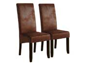 "Lot de 2 chaises ""Sagua"" - Marron"