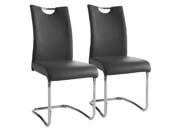"Lot de 2 chaises ""Swing"" - Taupe"