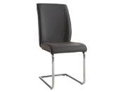 """Lot de 2 chaises """"Alister"""" - 44 x 100 x 57 cm - Gris foncé"""