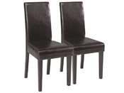 "Lot de 2 chaises ""Cohiba"" - Chocolat"