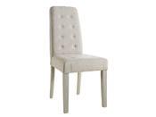 """Lot de 2 chaises """"Alvis"""" - 45 x 58 x 95 cm - Beige"""