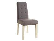"""Lot de 2 chaises """"Alvis"""" - 45 x 58 x 95 cm - Taupe"""