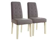 "Lot de 2 chaises ""Alvis"" - Taupe"